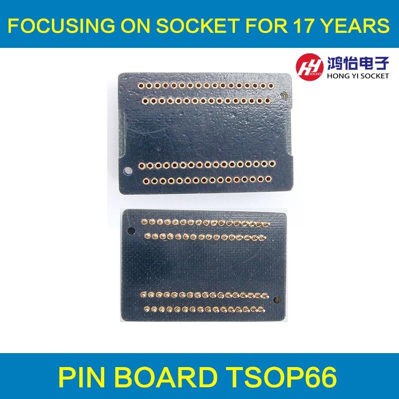TSOP66 Pin Board TSOP66-0.65 Interposer Board 66 pins Receptacle Pin Adapter Plate Test Socket Plug pin