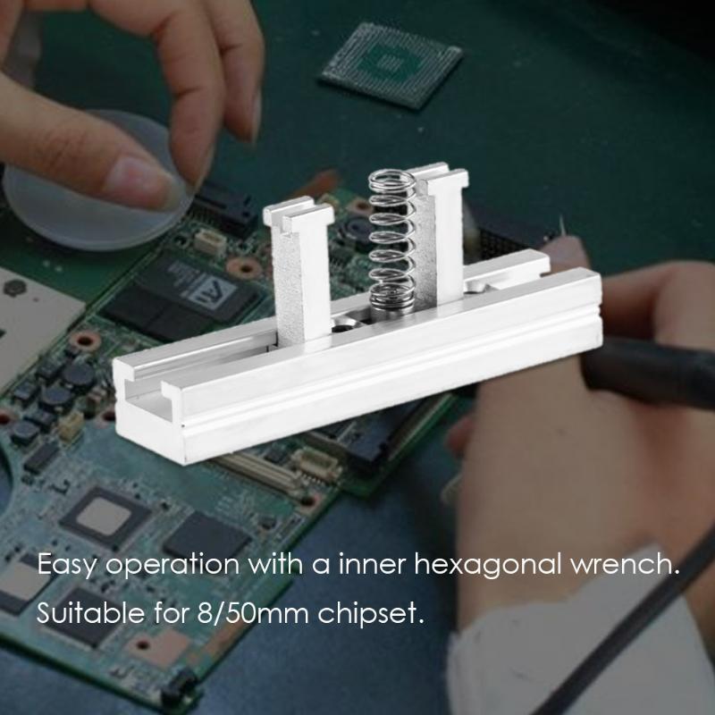 Directly Heated BGA Reballing Station Universal Stencils Holder Template Holder Jig for 8/50mm PCB Chipset Reballing latest laptop xbox ps3 bga 170pcs template bga kit 90mm for chip reballing