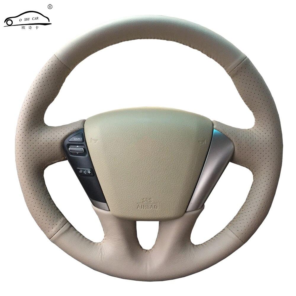 Lenkrad abdeckung für Nissan Teana 2008-2012 Murano 2009-2014/Nach maß lenkrad abdeckung