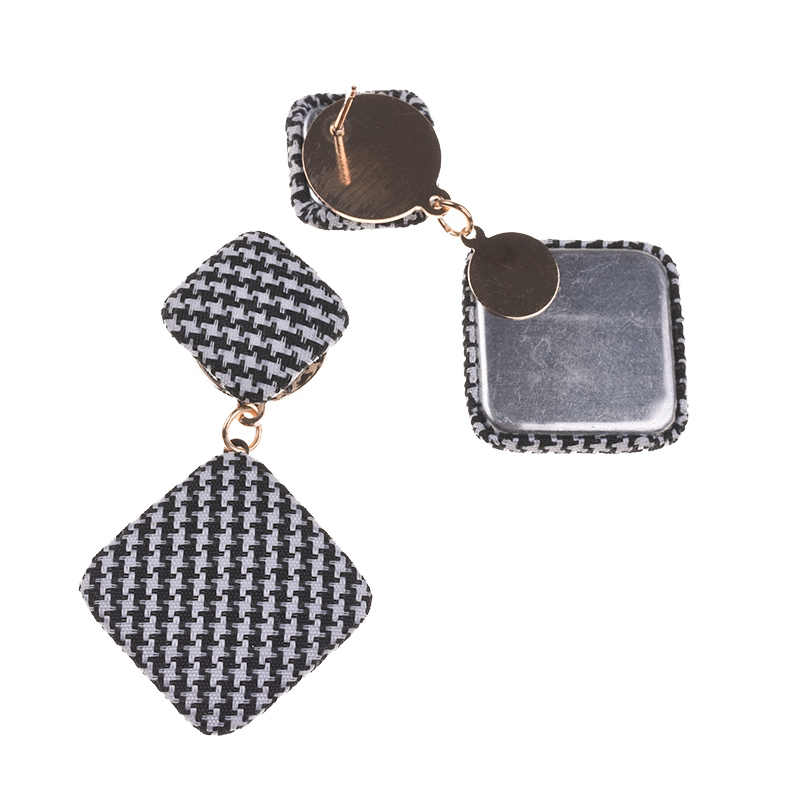 PPG&PGG ZA Geometric Square Charm Drop Earrings For Women Boho Dangle Pendant Earrings Jewelry Bijoux