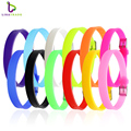 20PCS 8MM Silicone Wristband Bracelets (12 colors can choose) DIY Accessory Fit 8mm Slide Letter /Slide Charms LSBR09*20