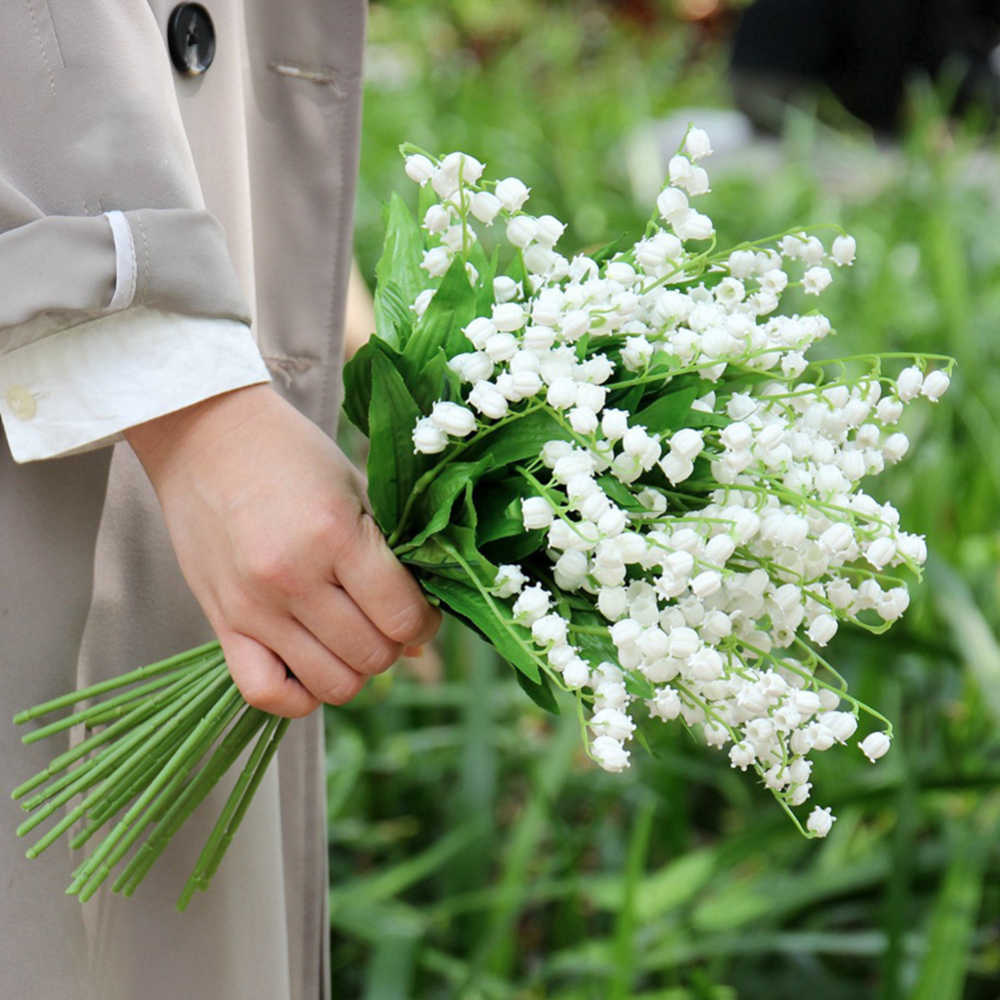 1 6 12pcs Artificial Lily Of The Valley Flowers Bouquet For