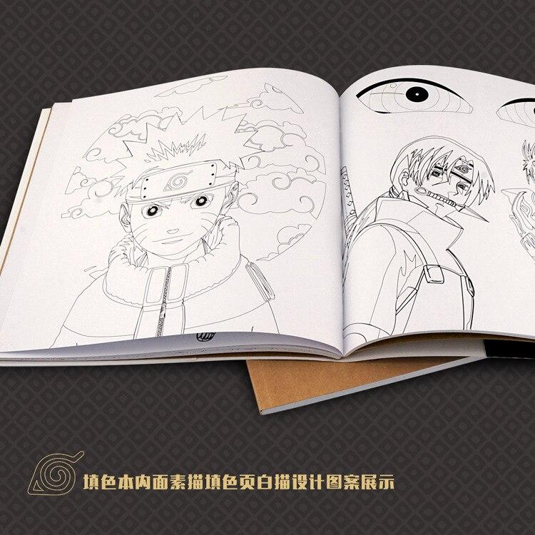 72 página Naruto antistress libros para colorear para adultos niños ...