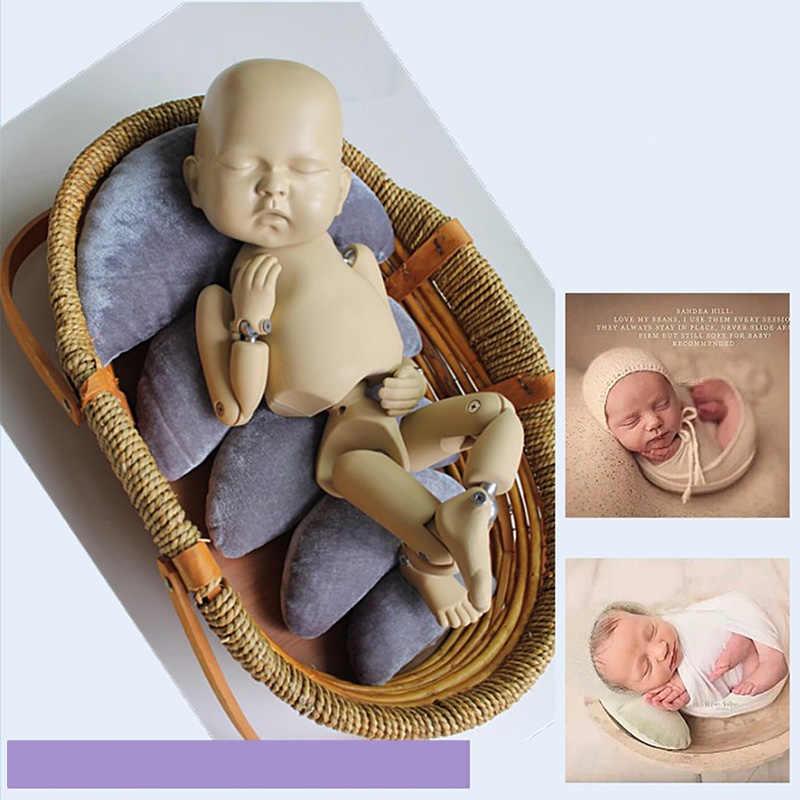 Nouveau-né photographie accessoires 5 pièces lune posant panier remplissage fotografia bébé oreillers nouveau-né fille garçon studio shoot accessoires cadeau