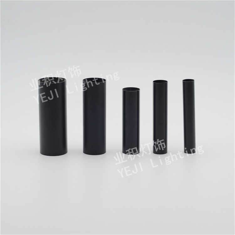 Черное и белое Кованое железо прямая труба подходит для Свеча для хрустальной люстры лампы аксессуары для освещения оптом DIY