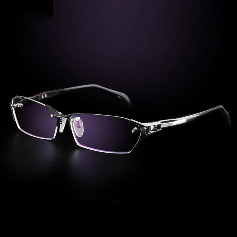 Tout nouveau 100% titane pur sans monture lunettes cadres hommes myopie optique lunettes cadre Prescription lunettes oculos de grau - 6