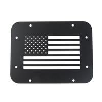 Black Steel Tailgate Vent Plate Cover for 2007 2018 Jeep Wrangler Jk & Unlimited (Usa Flag)