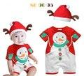 Nuevo 2016 ropa de bebé ropa de los mamelucos Del Bebé recién nacido de navidad de Santa Claus Traje vestidos infantis B0463