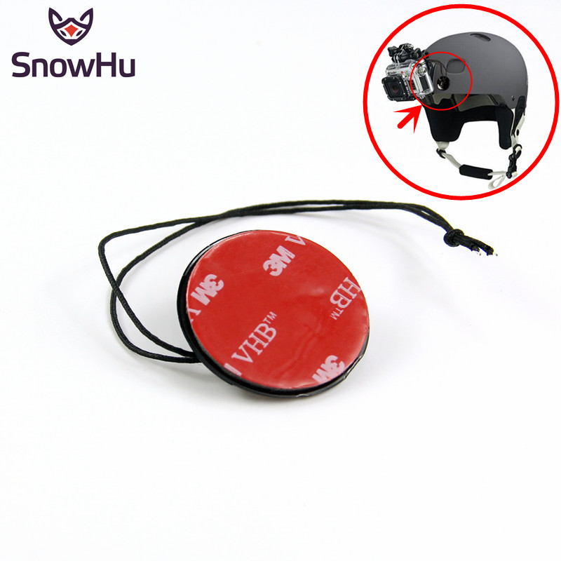 SnowHu For GoPro Accessories Safety Insurance Tether Straps With Sticker Mounting 3M For Go Pro Hero 8 7 6 5 4 3+ Xiaomi Yi GP21