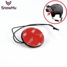 Snowhu para gopro acessórios seguro de segurança cintas tether com adesivo montagem 3m para go pro herói 9 8 7 6 5 yi 4k câmera gp21