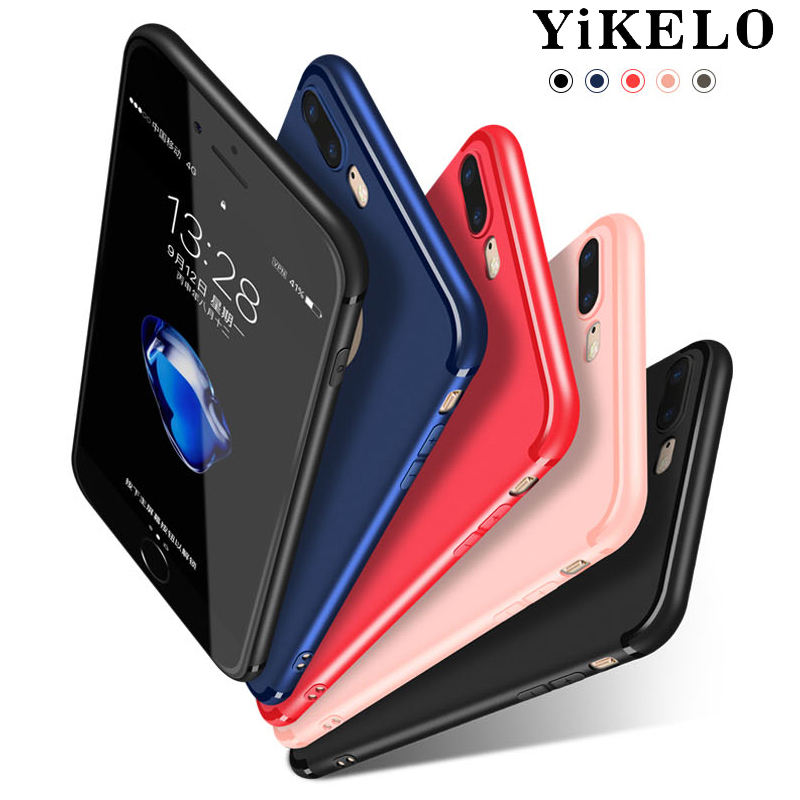 YiKELO Luxury High Quality Candy Full Cover TPU Case for iPhone 7 Plus Cases Soft TPU Silicone for iPhone7Plus Ultra Thin Case