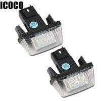 ICOCO 2PCS 12V 18 LEDs LICENSE NUMBER PLATE LIGHT Bulbs FOR PEUGEOT 206 207 306 CITROEN