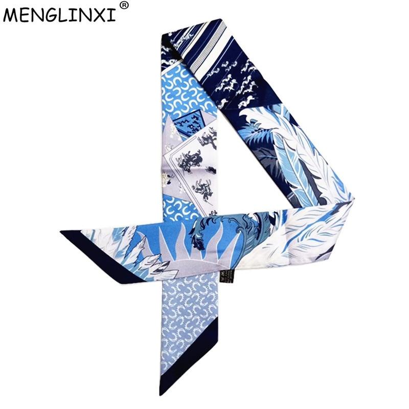 U Horseshoe Skinny Silk Scarf 2019 New Brand Scarf For Women Fashion Head Scarf Long Bag Scarves Wraps For Ladies Girls