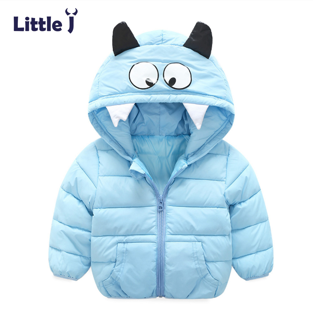 Little J Children Hooded Jackets Boys Girls Down Parkas Cotton-Padded Halloween Daemon Winter Baby Warm Coat Outerwear Clothing children winter coats jacket baby boys warm outerwear thickening outdoors kids snow proof coat parkas cotton padded clothes