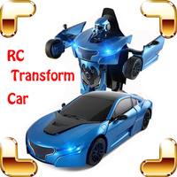 New Arrival Gift RS 1/14 2.4G RC Remote Control Transform Car Roadster Robot Vehicle Electric Children Kids Toys Cool Present