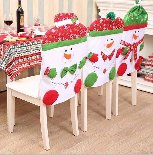 € 7.03 |Navidad Fundas para sillas del comedor moderno Fundas para sillas  decoración Navidad Fundas para sillas natal Cadeira capa en Cubiertas de ...