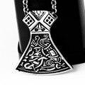 Новый последняя версия из нержавеющей стали эксклюзивный торс молот топор ожерелье серебро черный для мужчин - с 23 дюймов цепи