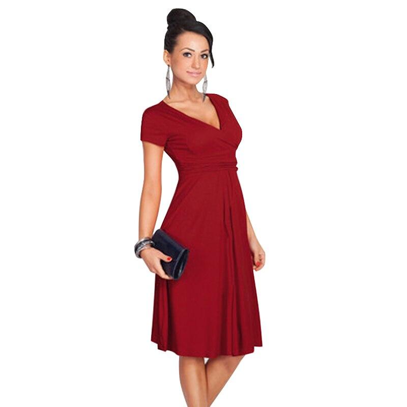 Womens V-Neck Maternity Dress Short Sleeve For Women Summer Pregnancy Dress Clothing