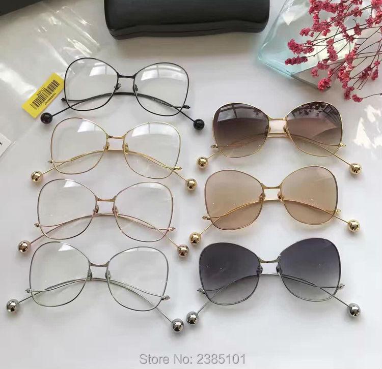 Clair glasse cadres et lunettes de soleil UV400 femmes papillon cadres En Métal Cadre Rétro optique En Verre Lunettes et cas Oculos De Sol