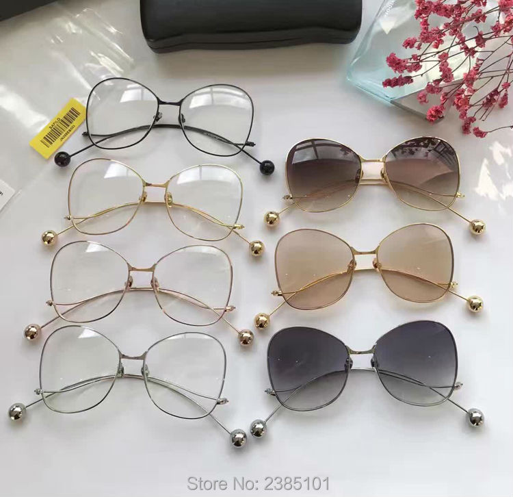 Montures et lunettes De soleil transparentes UV400 femmes montures papillon monture en métal rétro optique verre lunettes et étui Oculos De Sol
