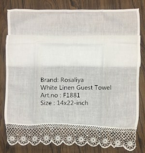 Set Of 12 Fashion Handkerchiefs Towel With Crochet Lace Edging Vintage Hand Towel White Linen Guest Towel 14x22-inch