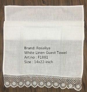 Set Of 12 Fashion Handkerchiefs Towel With Crochet Lace Edging Vintage Hand Towel White Linen Guest Towel 14x22-inch