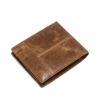 A Short Paragraph On Behalf Of Leather Mens Wallet Head Layer Cowhide Wallet Purse Multi Card