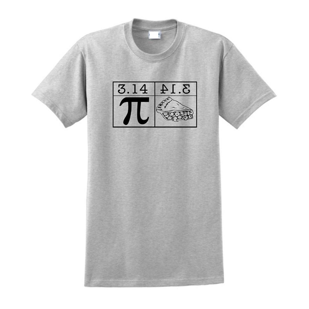 Bulk T Shirts Crew Neck Pi Equals Pie Short Sleeve Printing Machine For Men