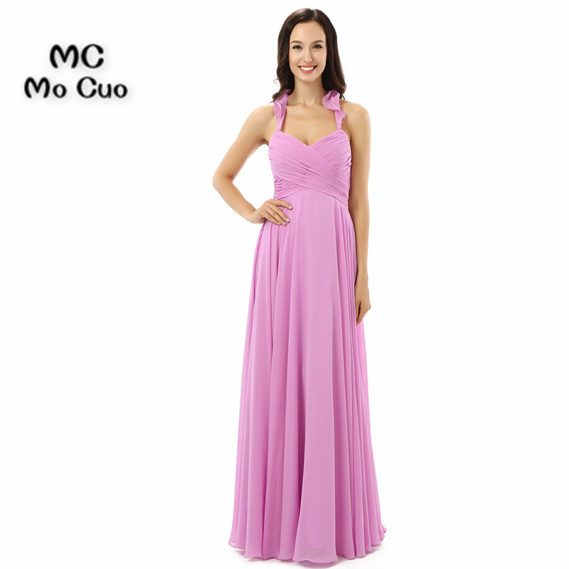 Elegant Halter Off Shoulder   Bridesmaid     Dresses   2018 Robe Demoiselle D'honneur Cheap Wedding Party   Dress   Robe de Soiree
