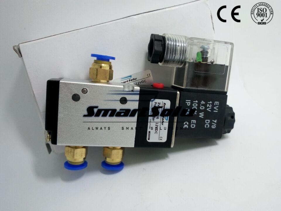ᐂ무료 배송 공압 솔레노이드 밸브 v 포트 quot bsp 볼트 dc 방법 제어