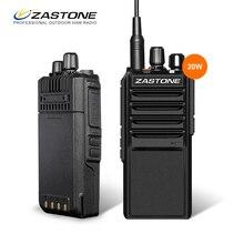 Ультра мощный! Zastone L2000 20 Вт рации UHF 400-480 мГц удобный Любительское радио двухстороннее радио FM трансивер cb Мобильный радиотелефон
