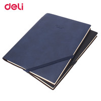 Deli 2017 Fashion Stationary Business Pen Notebooks For Students Creative High Quality Blue Black Notebook Rope