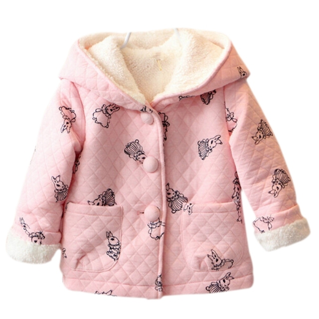97815e901 Fashion Autumn Winter Children Cute Pink Cartoon Rabbit Baby Girls ...