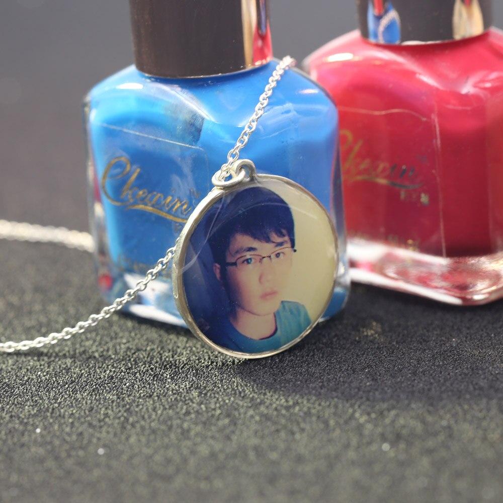En gros personnalisé Photo pendentifs personnalisé collier Photo de votre bébé enfant maman papa grand-parent amant cadeau pour la famille