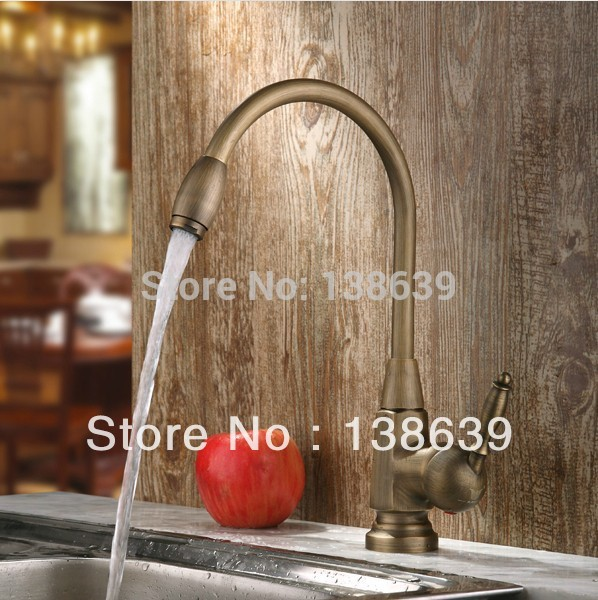 ФОТО New design Antique brass Bathroom Faucet Basin Sink Spray Single Handle Mixer Tap,brass thermostatic mixing valve,Free shipping