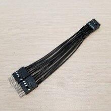 10 teile/los Motherboard Audio HD Verlängerung Kabel 9Pin 1 Weibliche zu 2 Männlichen Y Splitter Kabel Schwarz für PC DIY 10cm