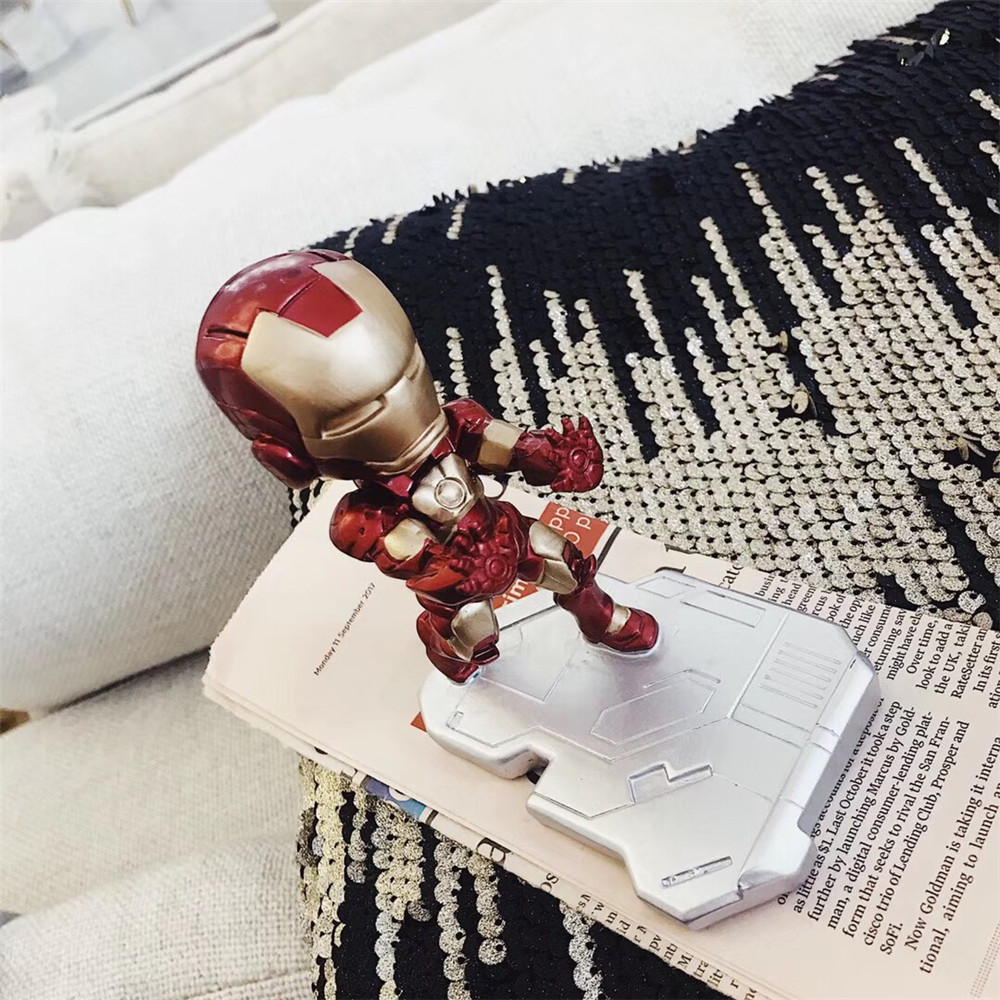 Fashion Mobile Phone Smartphone Desktop Marvel Avengers iron Man For iPhone Samsung HUAWEI For All model Phone Mini Desk Stand-in Phone Holders & Stands from Cellphones & Telecommunications