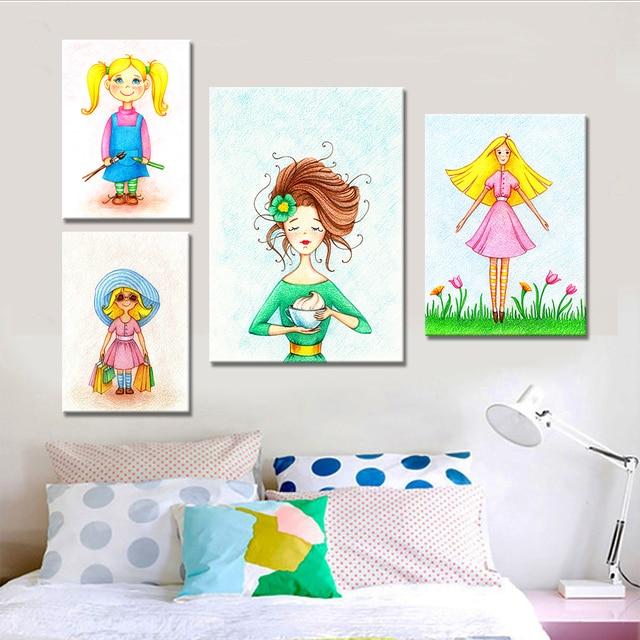 Moderno estilo nórdico niños decoración cartel lienzo retrato ...