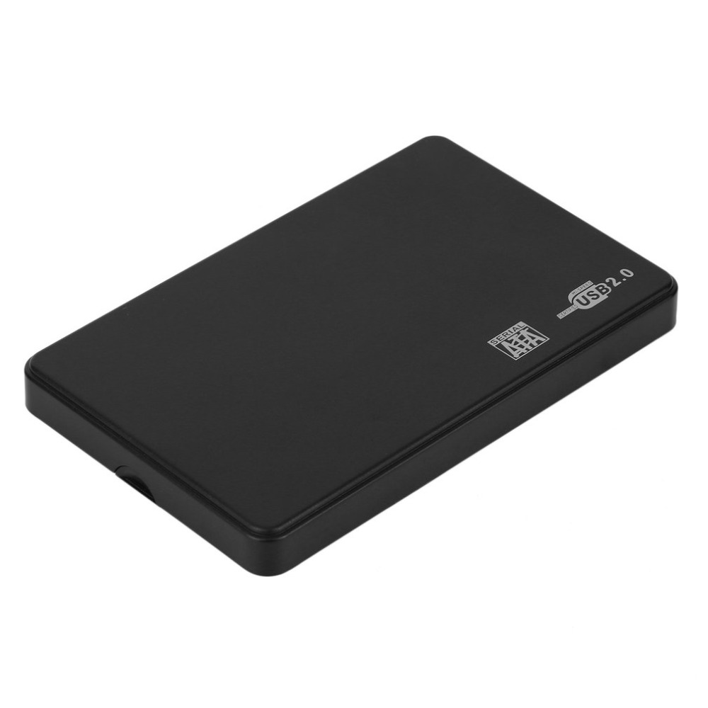 <font><b>2.5</b></font> <font><b>Inch</b></font> <font><b>HDD</b></font> Case USB 2.0 <font><b>SATA</b></font> Portable Support 2TB <font><b>Hdd</b></font> <font><b>Hard</b></font> <font><b>Drive</b></font> Black External Enclosure <font><b>HDD</b></font> <font><b>Box</b></font> with Bag image