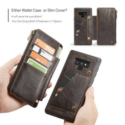 For Samsung note 9 CaseMe Leather Phone Case For iPhone 6 8 Leather Wallet Card Slots Stand Cover For iPhone X Case iPhone 7 3