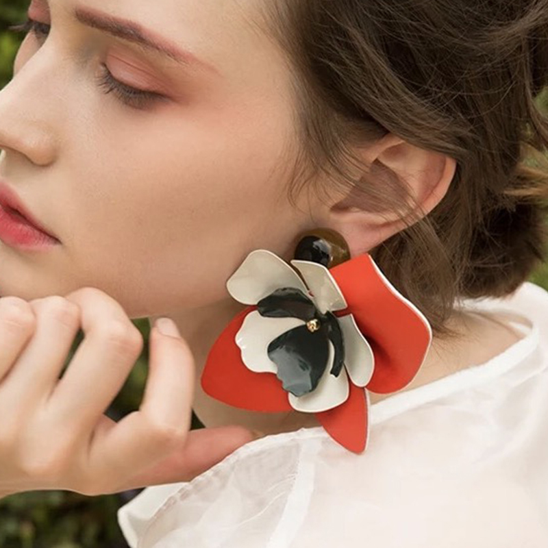 Best-lady-New-Arrival-Special-Design-Big-Flower-Shaped-Earrings-For-Women-Statement-Jewelry-Charm-Dangle