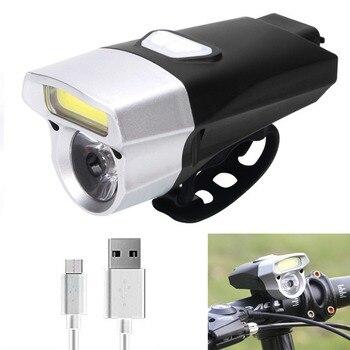 NEWBOLER Headlignt 350 Lumen Lanterna LED Para Bicicleta Da Bicicleta Ciclismo Frente Bicicleta Night Lights Equitação MTB Road Bike Lâmpada USB Projector