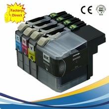 4 x LC569XL LC565XL LC569 LC565 Ink Cartridges For Brother MFC-J3520 MFC-J3720 MFCJ3520 MFCJ3720 MFC J3520 J3720 Inkjet Printer free shipping original printhead compatible for brother mfc j2310 j2510 j3520 j3720 j6920 j4510dw 6720 printer head print head