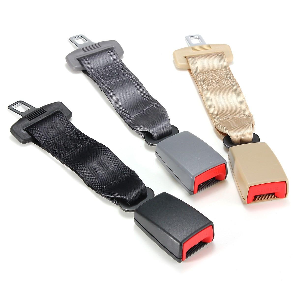 Universal 30 cm 12 pouces Voiture Seat Ceinture de Sécurité Ceinture de Sécurité Extender Extension 2.1 cm Boucle Noir Gris Beige Adapte Plus véhicules
