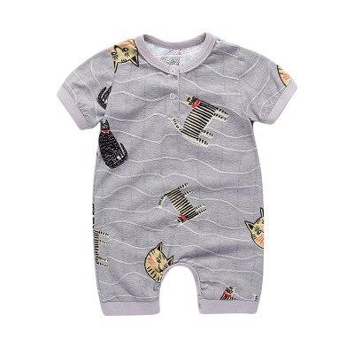 Pasgeboren zomer korte mouw romper babymeisje jongen jumpsuit - Babykleding - Foto 4
