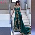 Escuro Dreen Longos Vestidos de Noite Elegante Africano Importante partido Vestidos Prom Vestidos de Renda apliques Vestidos De Luxo para As Mulheres Z703