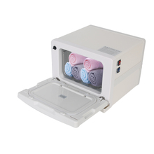 GZZT Commercial 8/18L UV Sterilizer Towel Warmer Hot Facial Cabinet Salon Spa Heating Storage