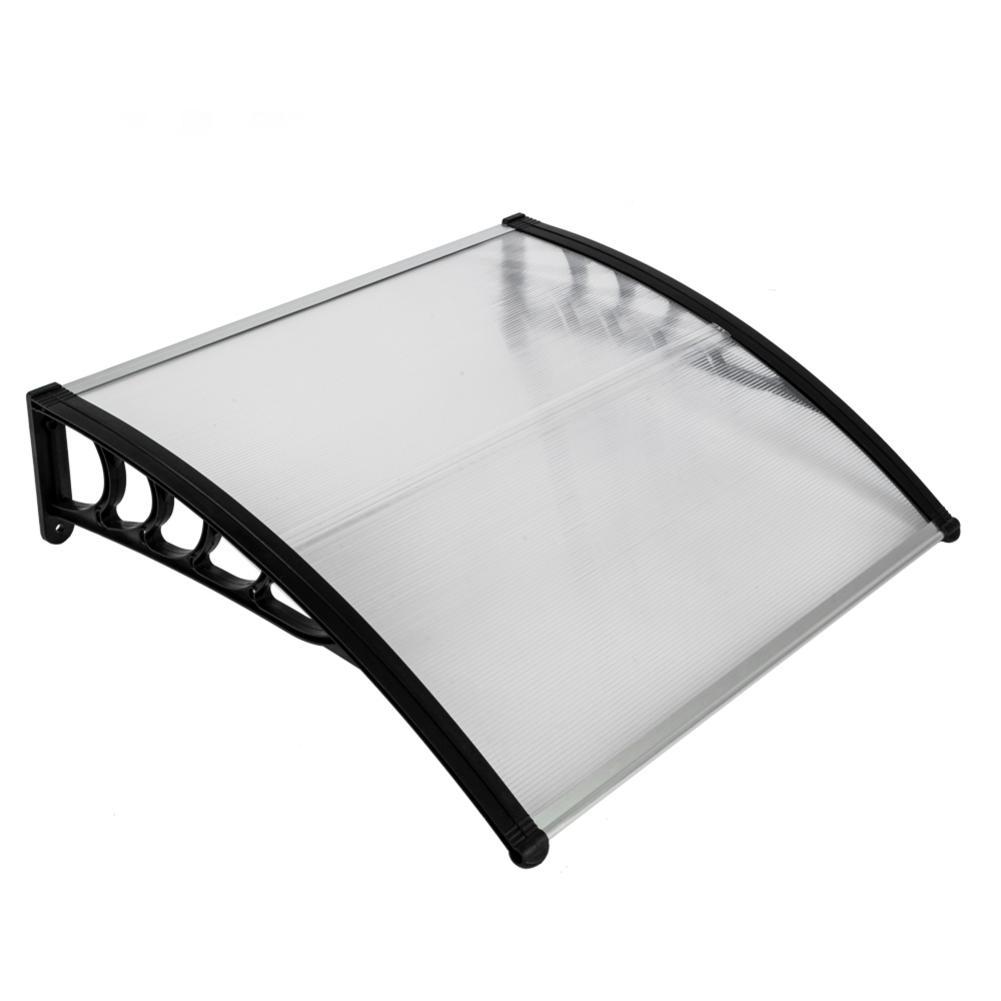 HT-100 x 100 Application domestique porte & fenêtre couverture de pluie avant-toit support noir