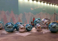 3 M Inflatable Mirror Ball /Advertising Ball For Decoration And Christmas Day