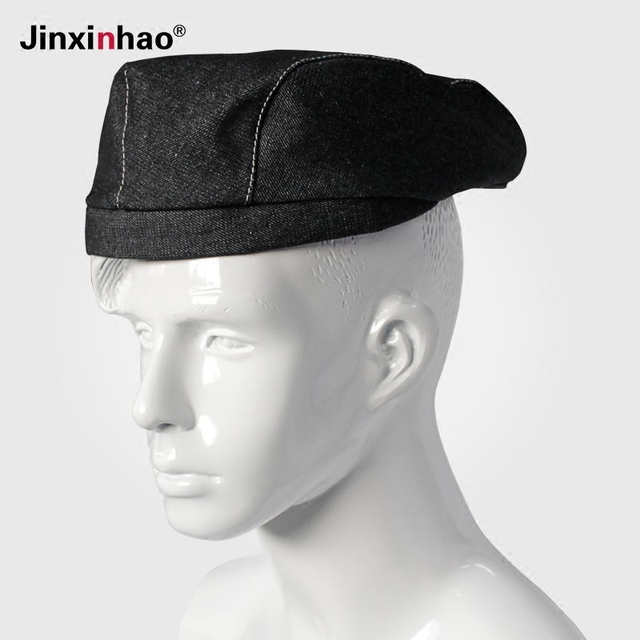 kitchen hats makeovers ideas hotel chef cowboy hat cap waiter berets women and mens denim baseball caps for gifts workwear free shipping